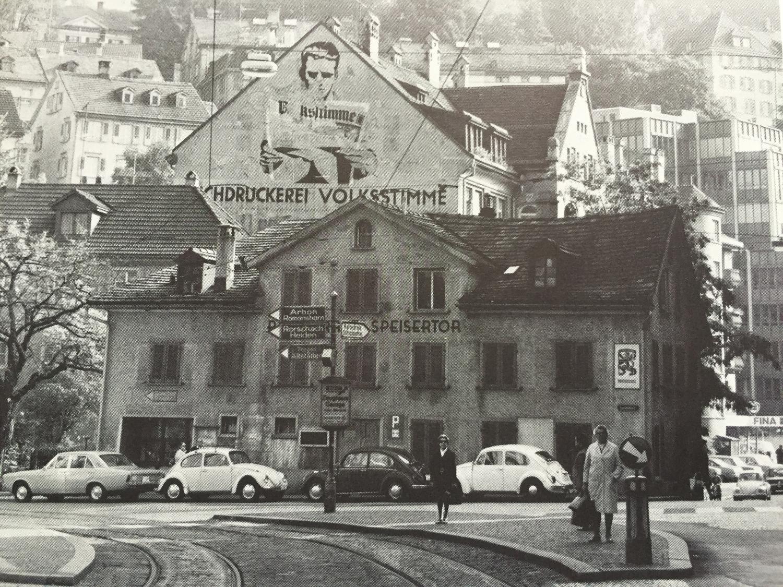 Ansicht der Stadt St. Gallen am Spisertor