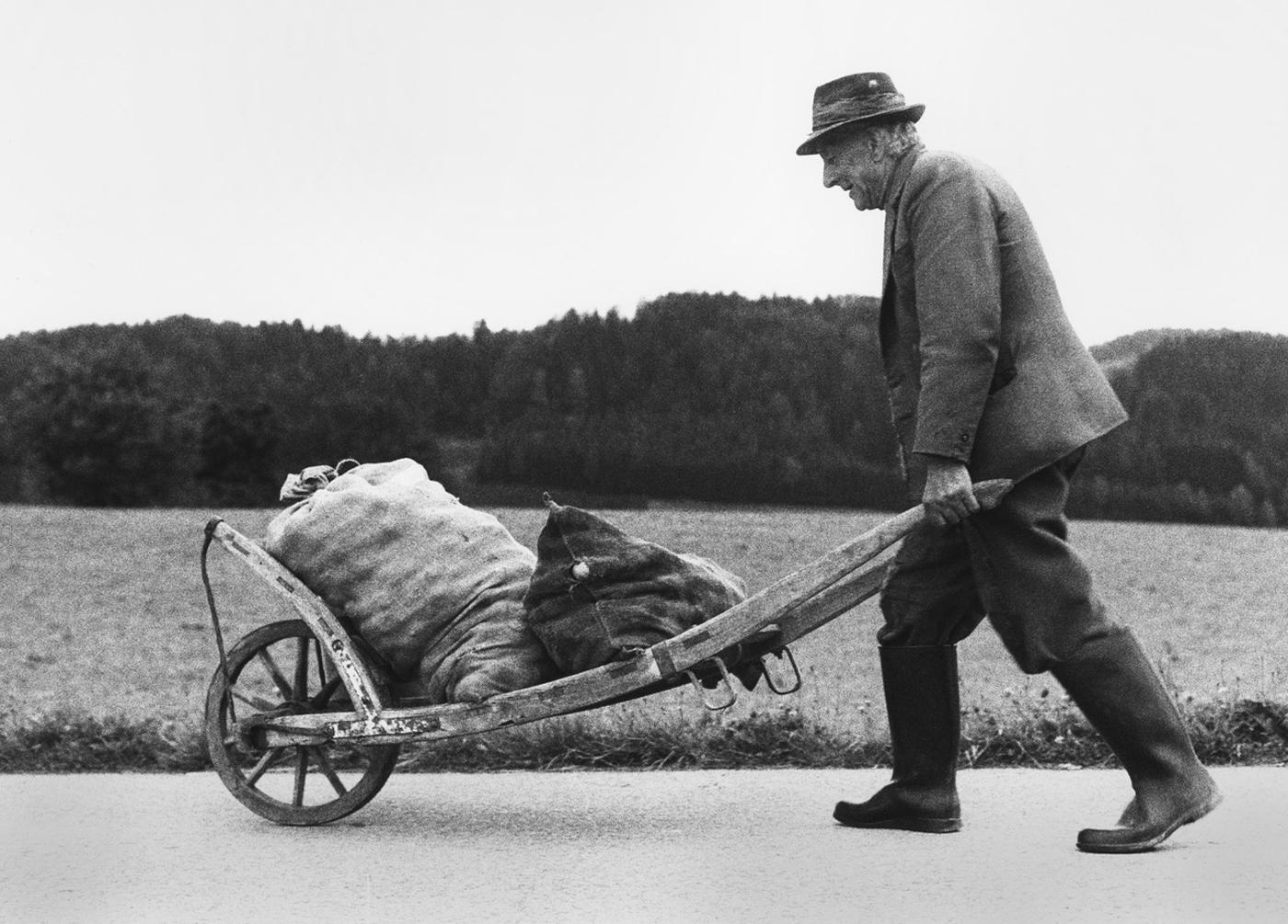 Ein Bauer in Italien. Foto von Werner Gadliger
