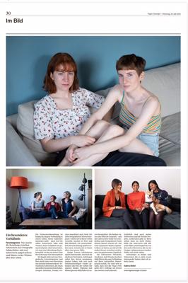 Die Seute im Tagesanzeiger mit Schwesternbildern von Sabina Bobst