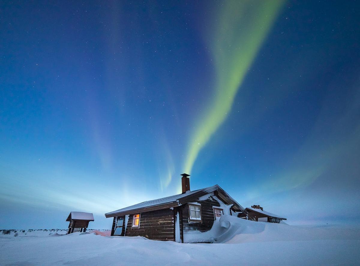Polarnacht im Norden Finnlands. Foto Tiina Törmänen