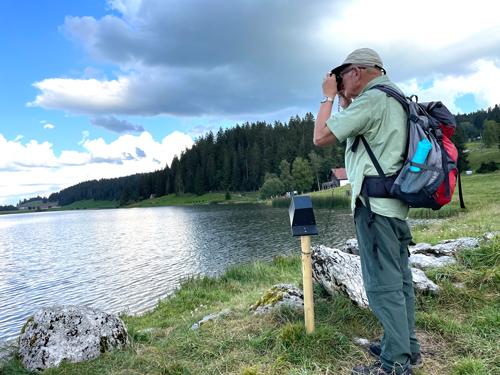 Mit dem Viewmaster am Lac de Taillères