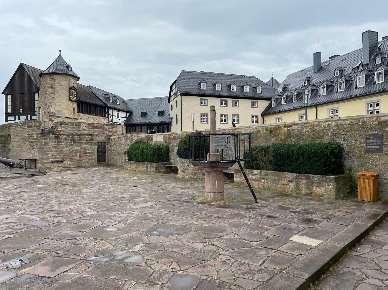 Der Innenhof von Schloss Waldeck